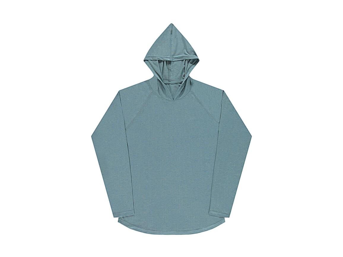 nakedshirt Cecil Unisex LS Hooded T-Shirt, Doubledyed Seafoam, S bedrucken, Art.-Nr. 113855113