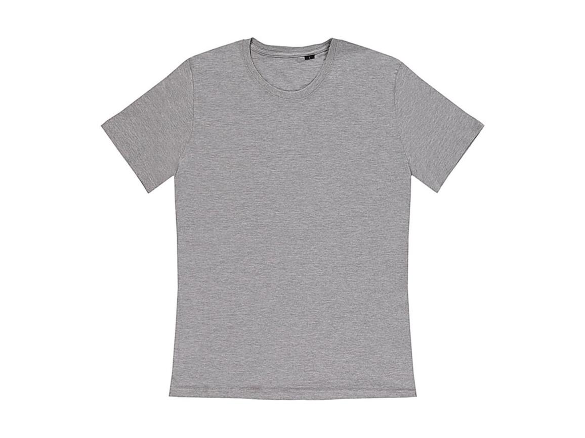 nakedshirt Pierre Men`s Round Neck T-Shirt, Warm Grey Melange, 3XL bedrucken, Art.-Nr. 114851278