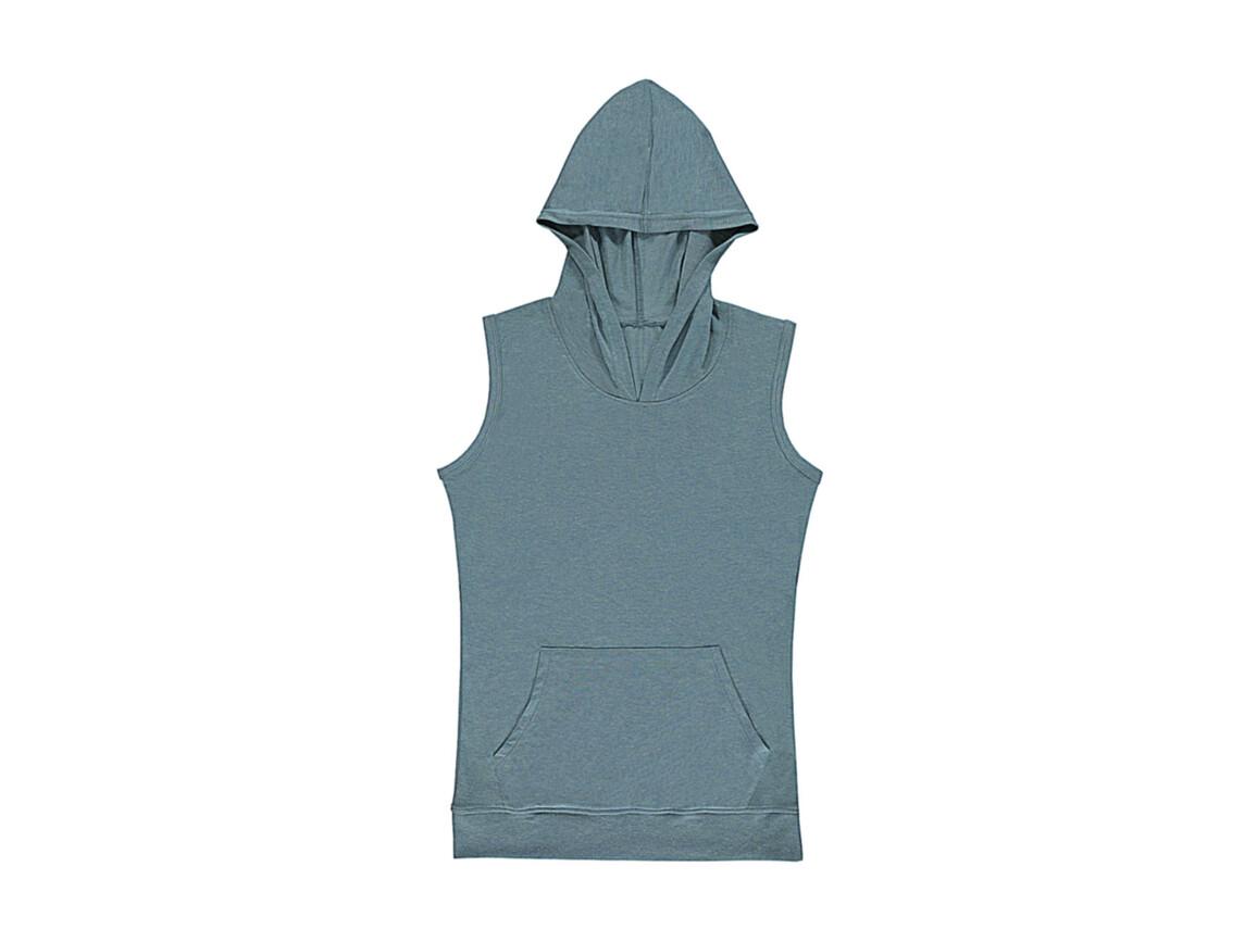 nakedshirt Cecilia Women`s Sleeveless Hooded T-Shirt, Doubledyed Seafoam, M bedrucken, Art.-Nr. 116855114