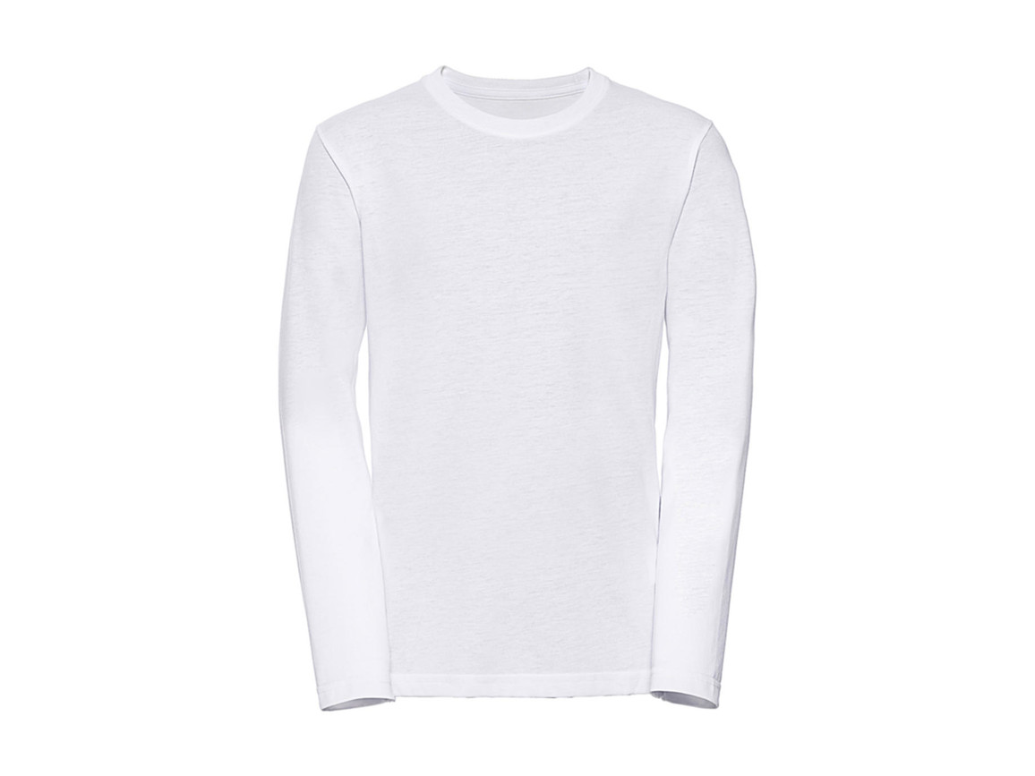 Russell Europe Boys Long Sleeve HD Tee, White, XL (140/9-10) bedrucken, Art.-Nr. 117000006