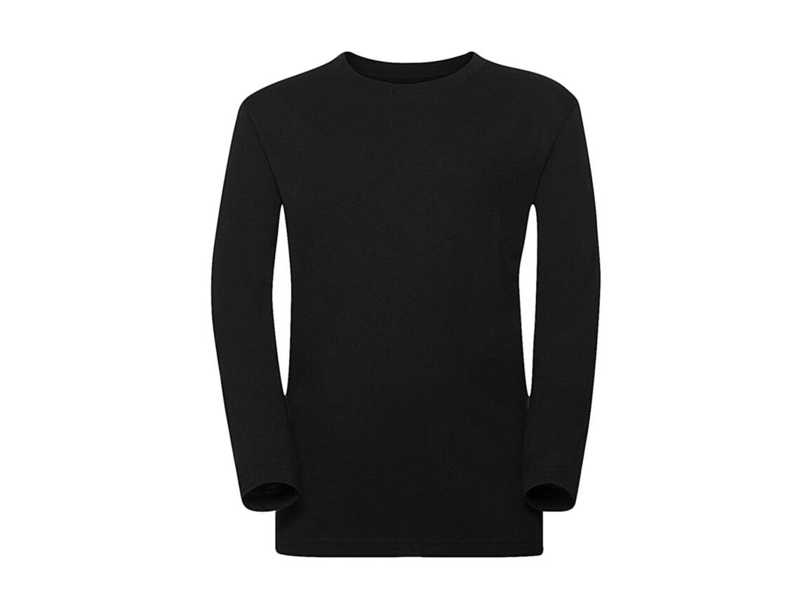 Russell Europe Boys Long Sleeve HD Tee, Black, XL (140/9-10) bedrucken, Art.-Nr. 117001016