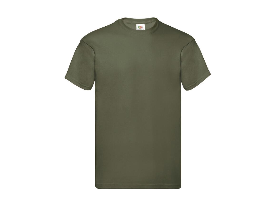 Fruit of the Loom Original Full Cut T-Shirt, Classic Olive, L bedrucken, Art.-Nr. 130015335