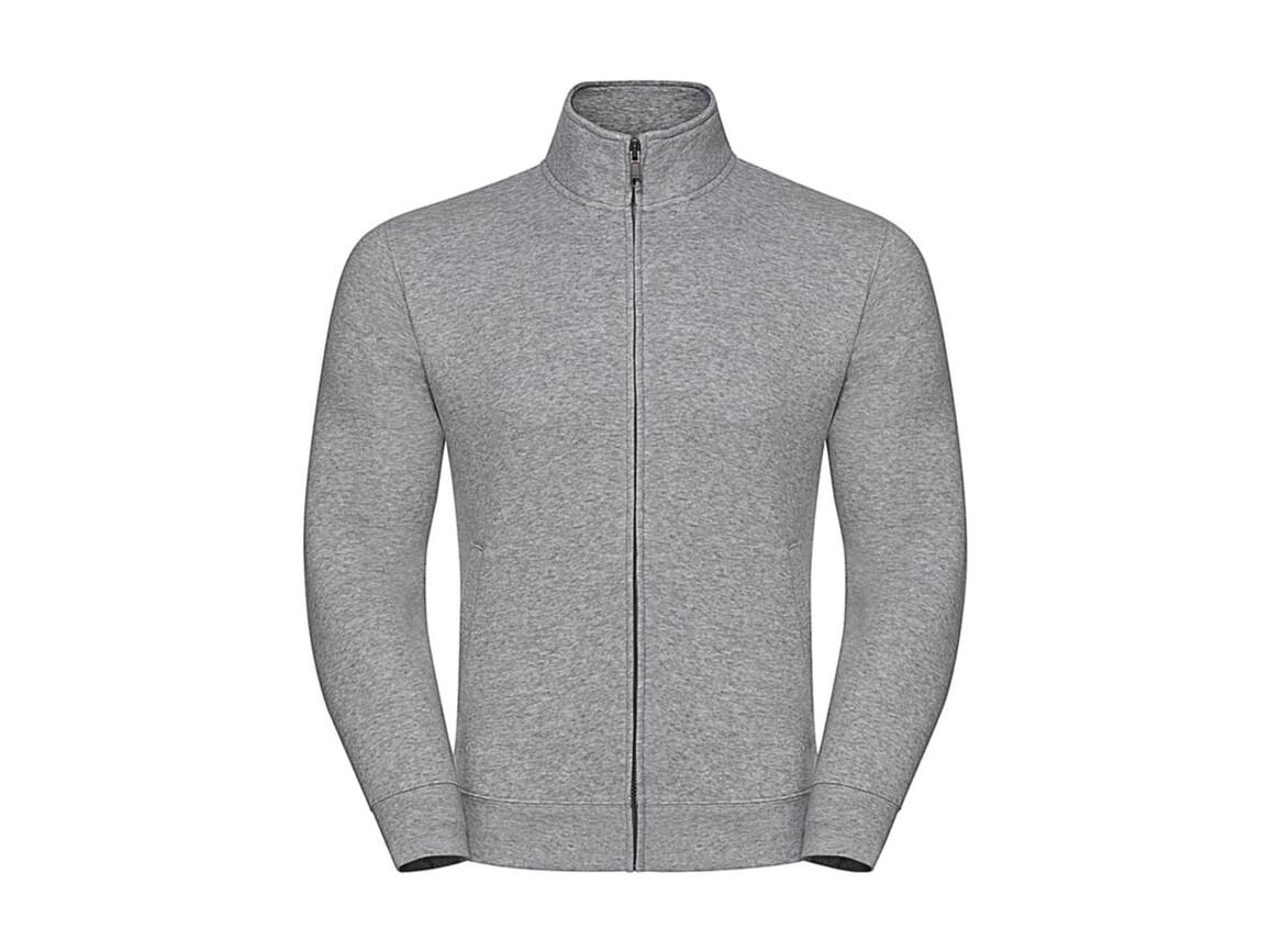 Russell Europe Men`s Authentic Sweat Jacket, Light Oxford, XL bedrucken, Art.-Nr. 220007196