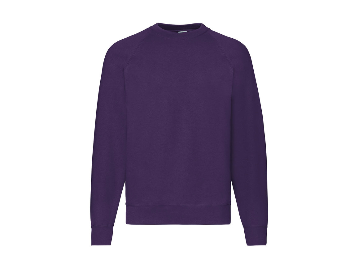 Fruit of the Loom Classic Raglan Sweat, Purple, 2XL bedrucken, Art.-Nr. 237013497