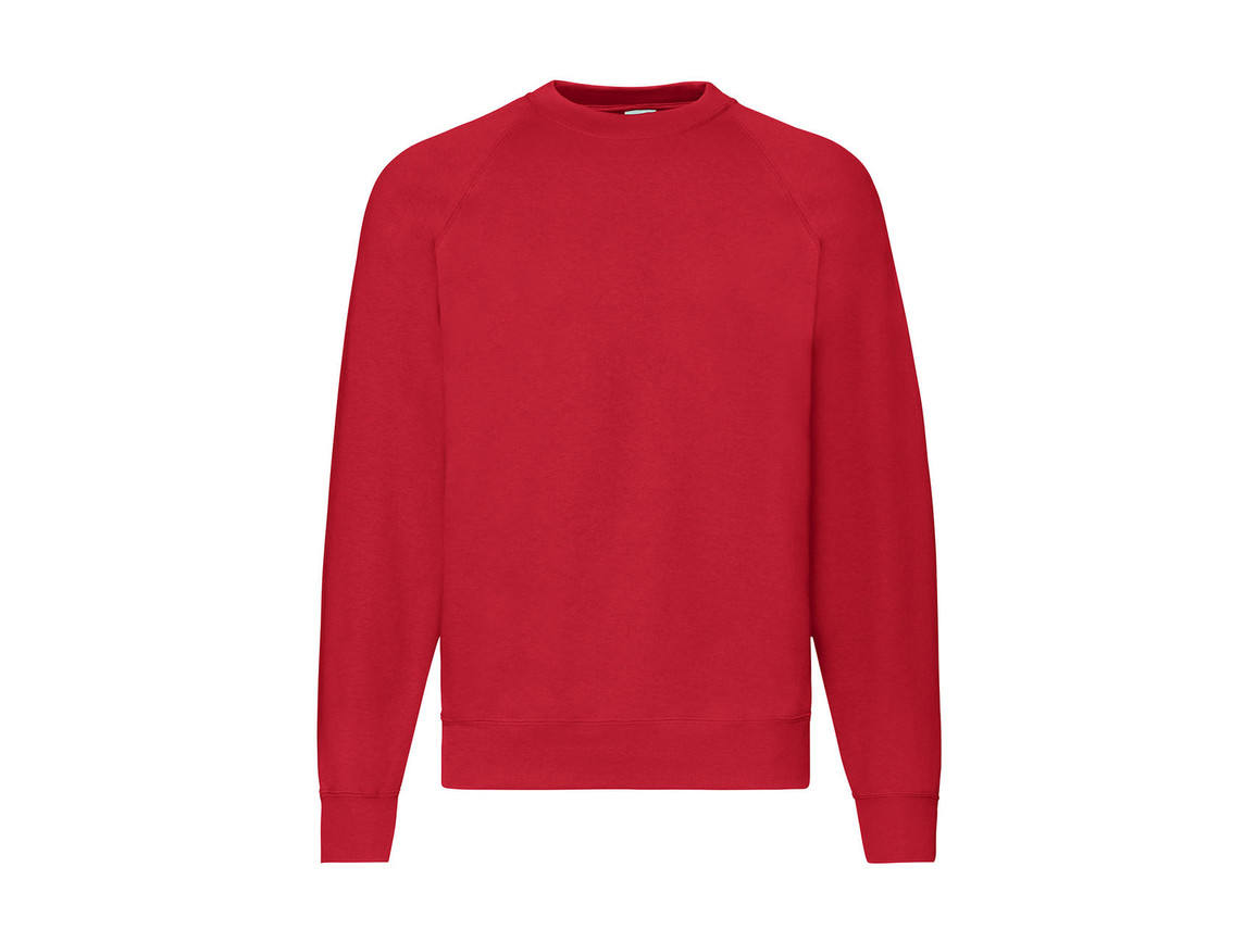 Fruit of the Loom Classic Raglan Sweat, Red, L bedrucken, Art.-Nr. 237014005