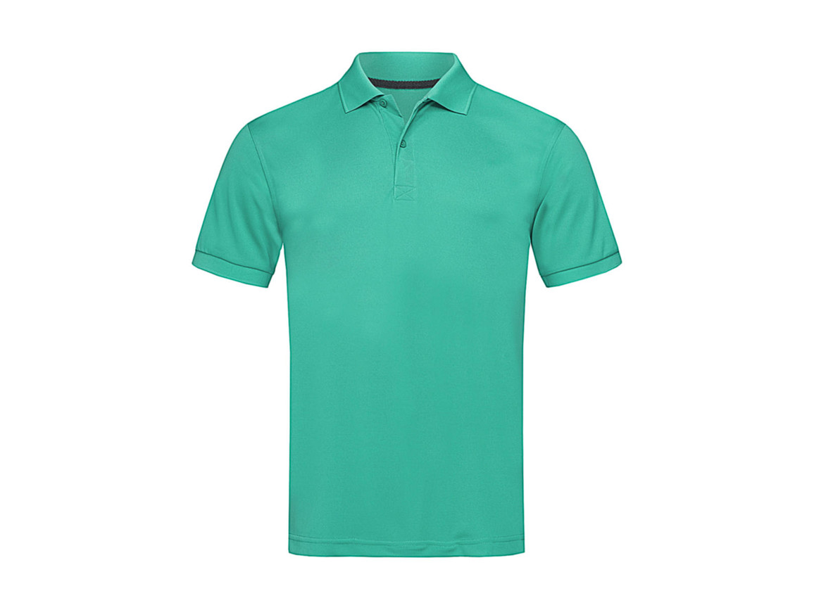 Stedman Active Piqué Polo, Bahama Green, 2XL bedrucken, Art.-Nr. 501055207