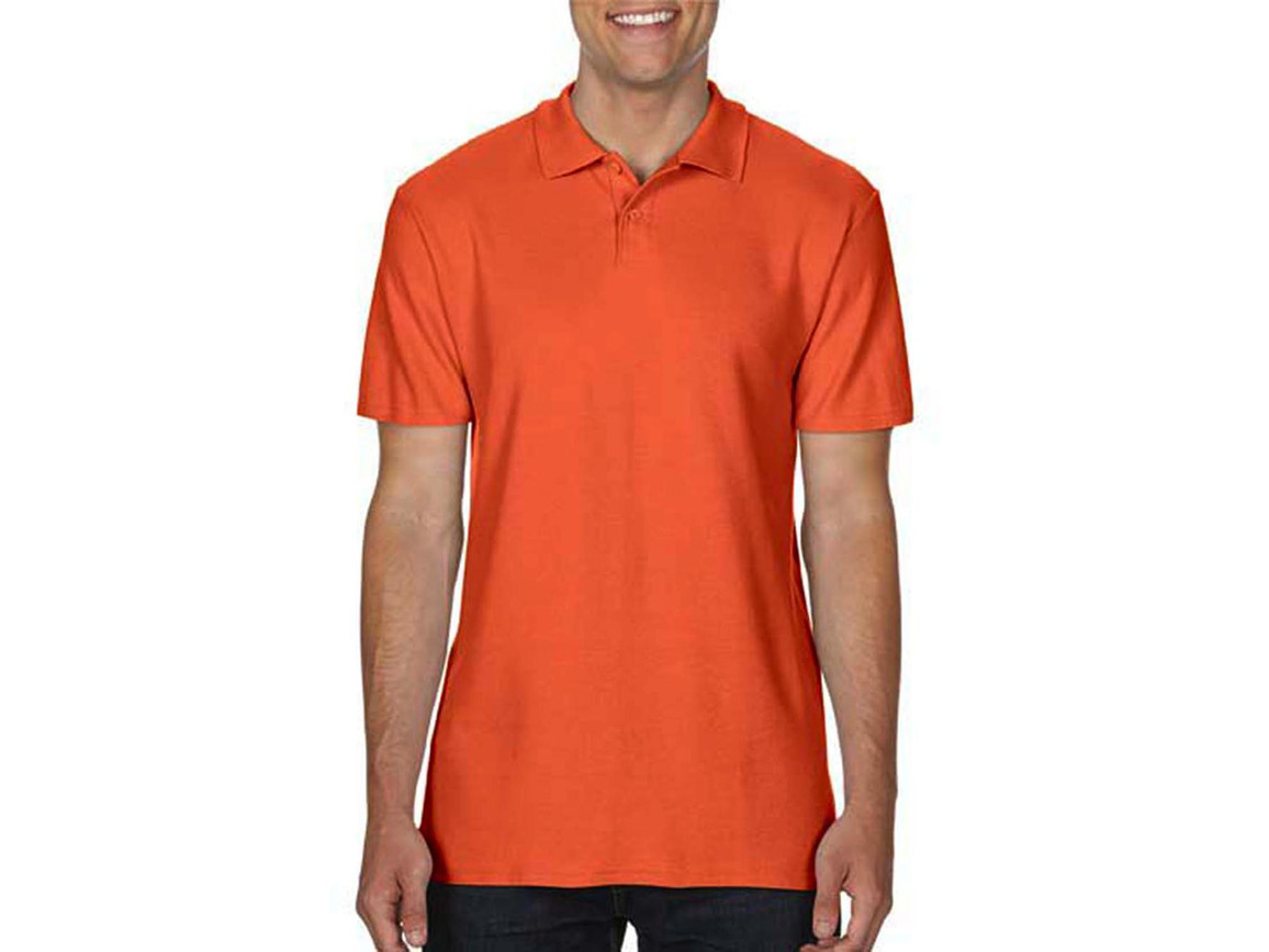 Gildan Softstyle® Adult Double Pique Polo, Orange, M bedrucken, Art.-Nr. 501094104