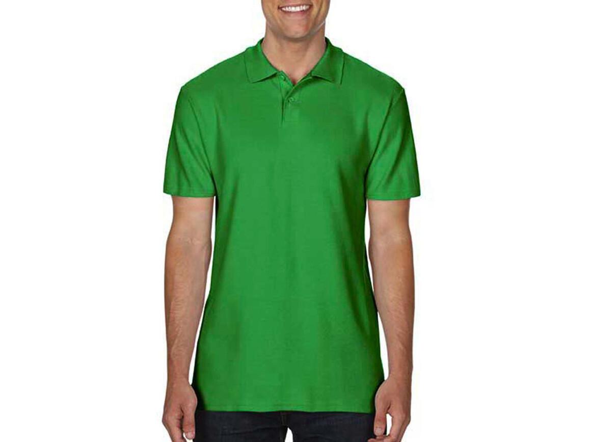 Gildan Softstyle® Adult Double Pique Polo, Irish Green, M bedrucken, Art.-Nr. 501095094