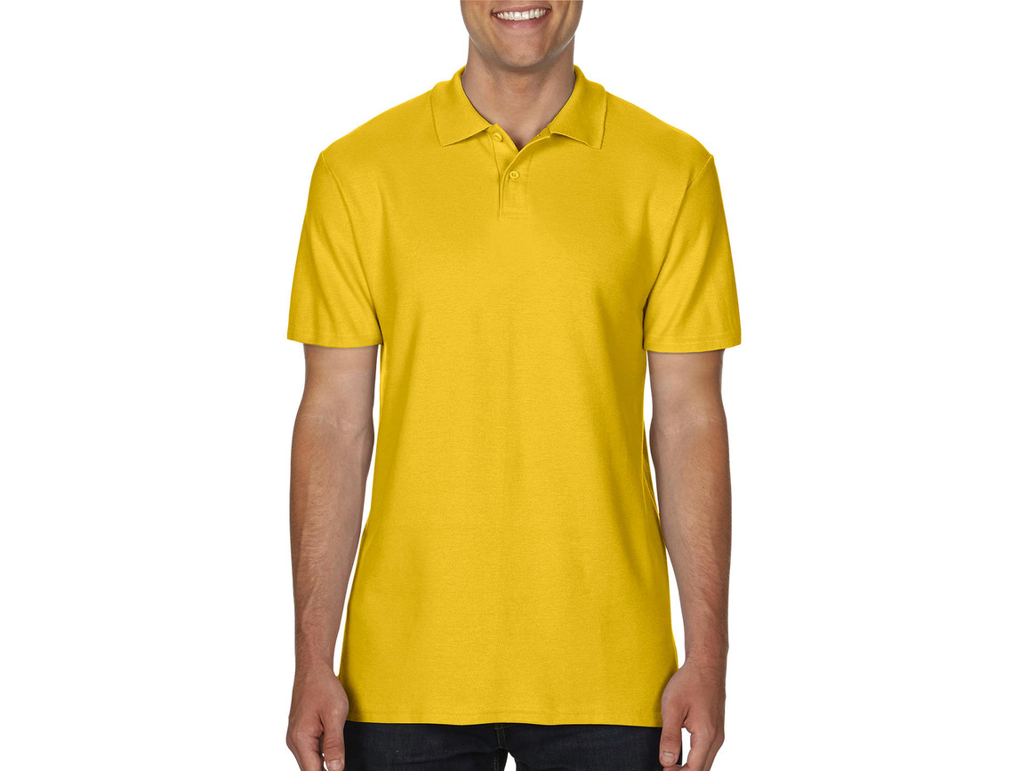 Gildan Softstyle® Adult Double Pique Polo, Daisy, XL bedrucken, Art.-Nr. 501096026