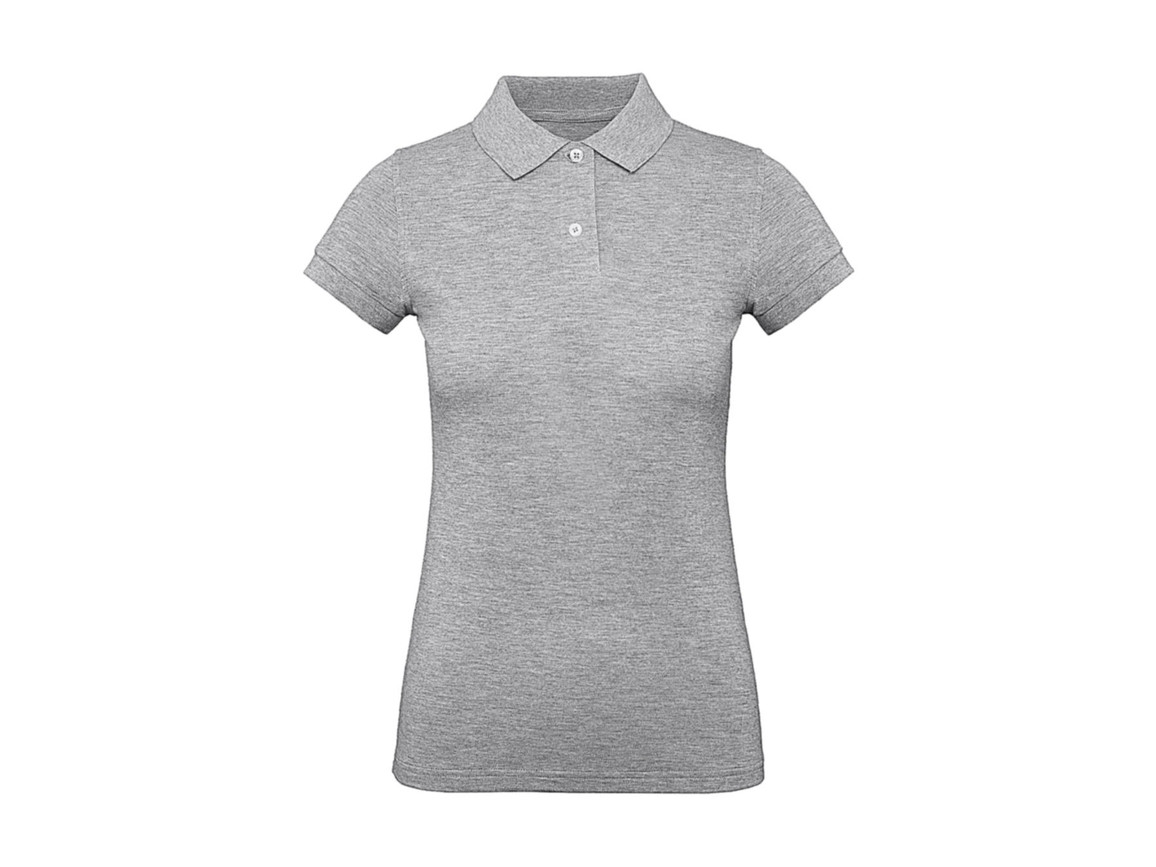 B & C Inspire Polo /women, Heather Grey, S bedrucken, Art.-Nr. 501421233
