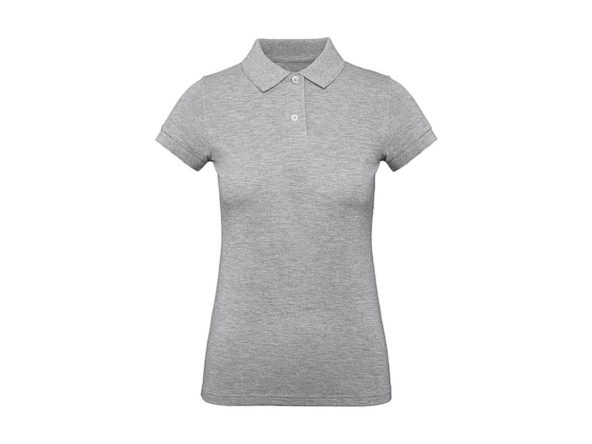 B & C Inspire Polo /women, Heather Grey, XL bedrucken, Art.-Nr. 501421236