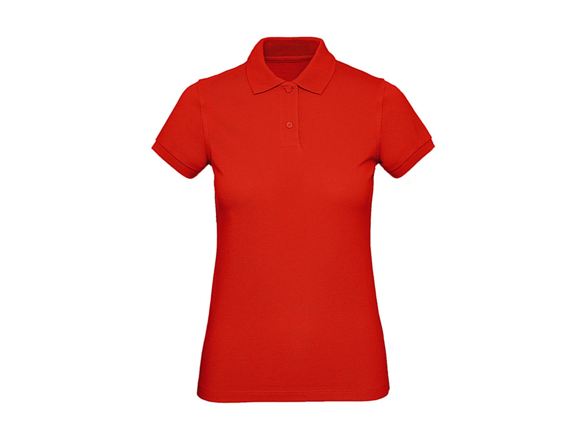 B & C Inspire Polo /women, Fire Red, XL bedrucken, Art.-Nr. 501424076