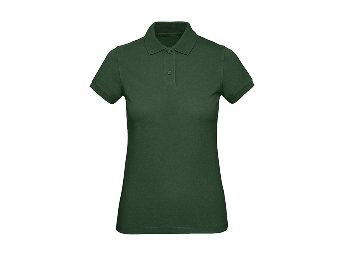 B & C Inspire Polo /women, Bottle Green, M bedrucken, Art.-Nr. 501425404