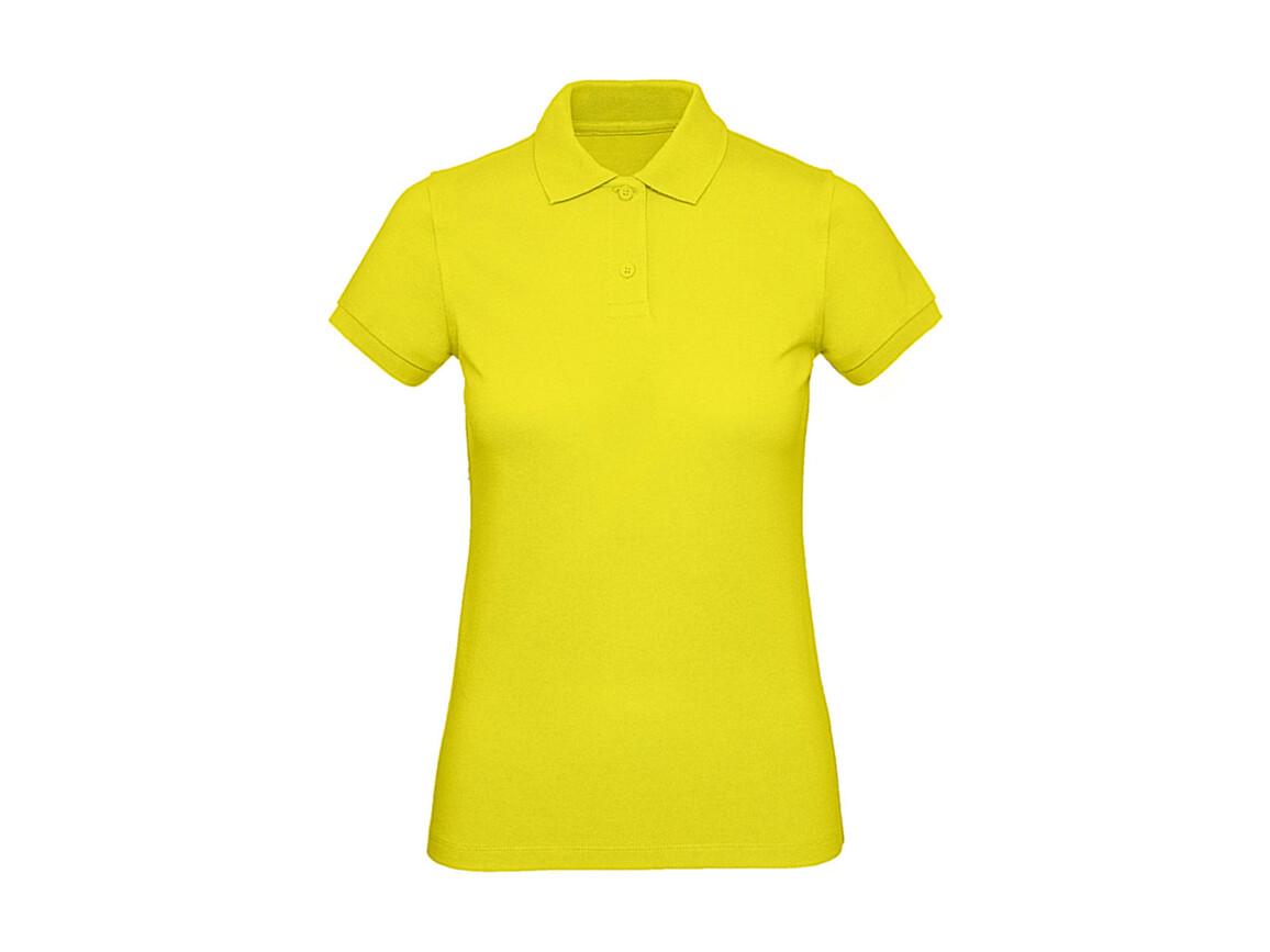 B & C Inspire Polo /women, Solar Yellow, L bedrucken, Art.-Nr. 501426075