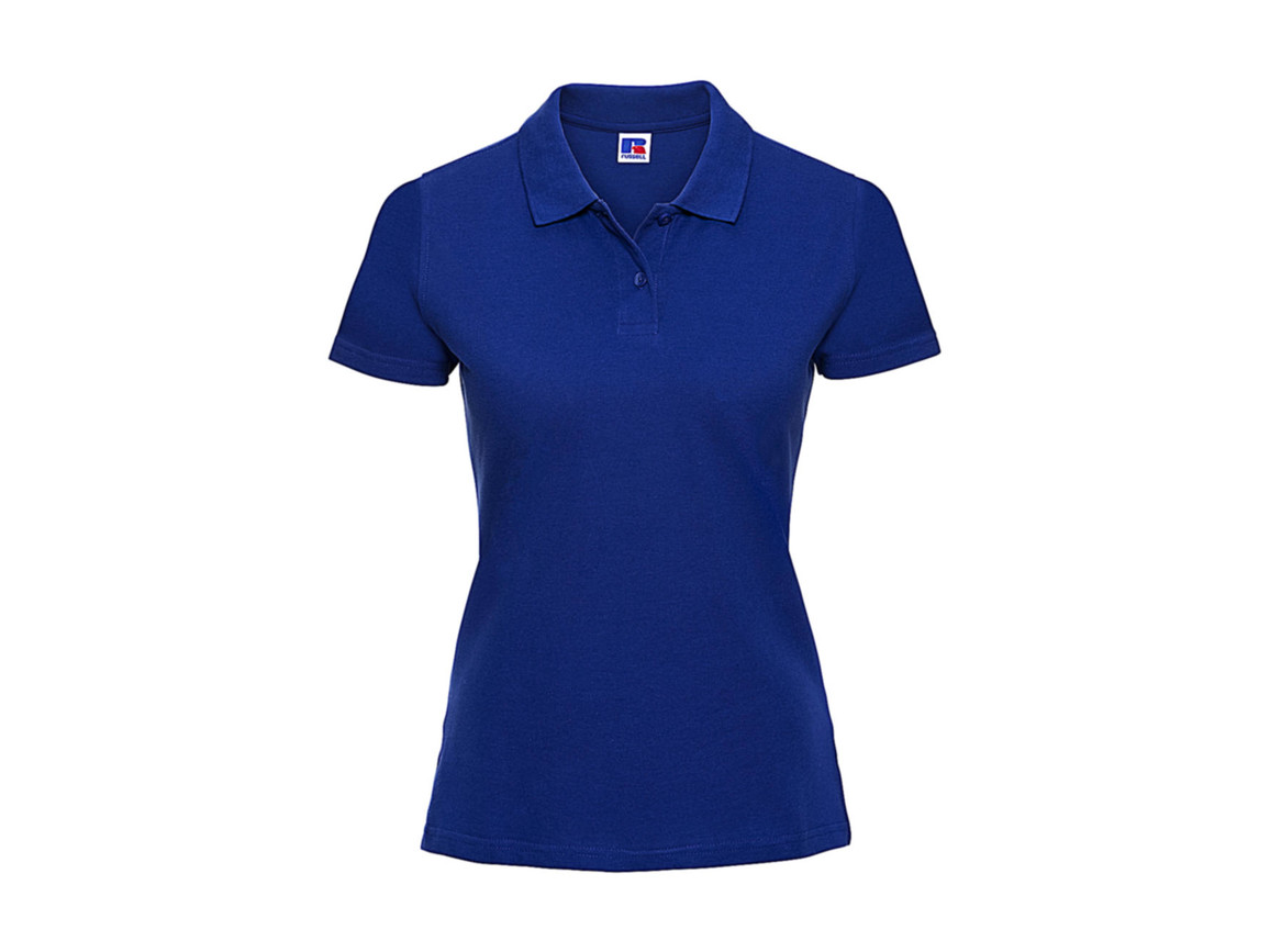 Russell Europe Ladies` Classic Cotton Polo, Bright Royal, 2XL bedrucken, Art.-Nr. 502003067