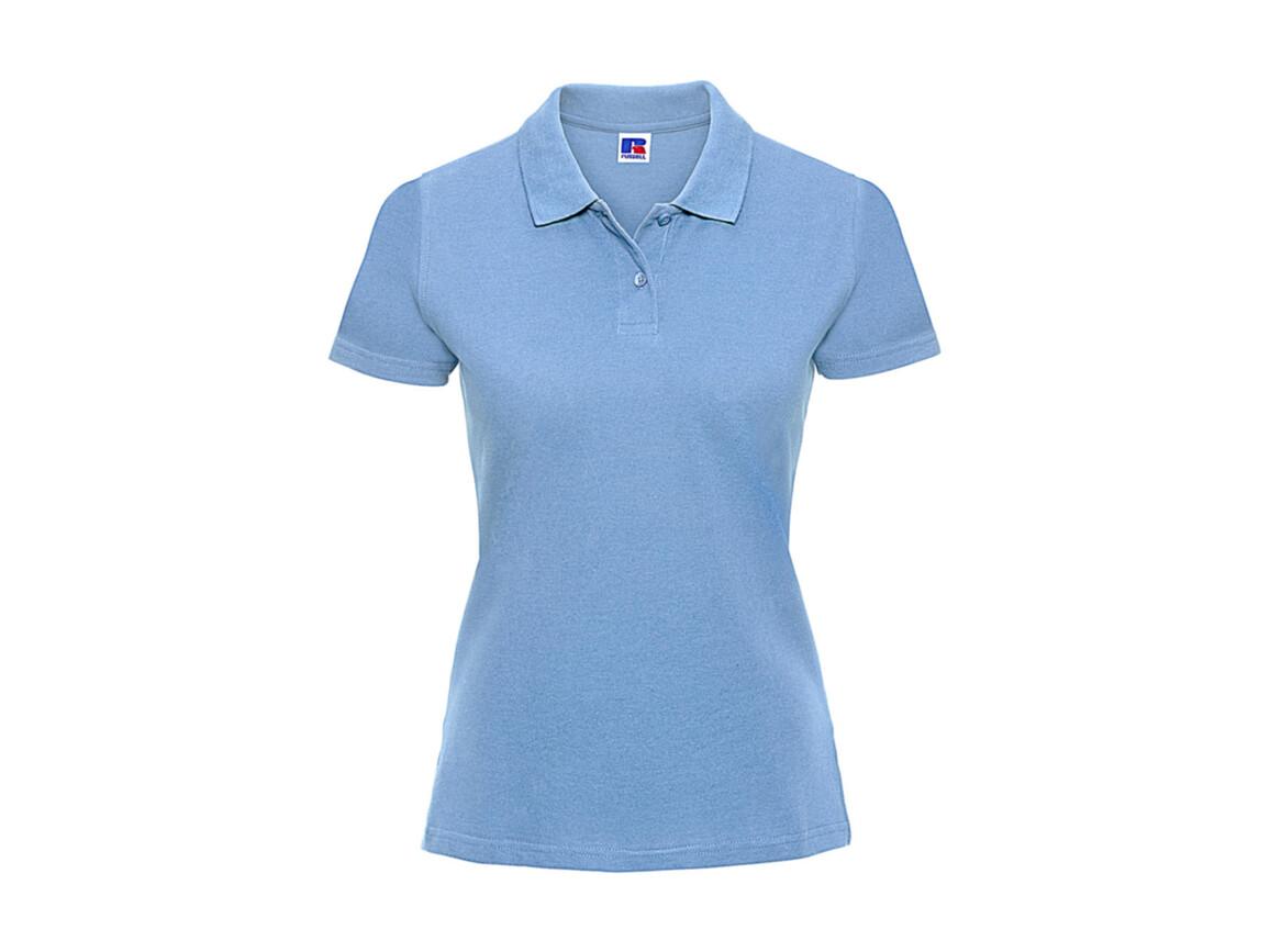 Russell Europe Ladies` Classic Cotton Polo, Sky, M bedrucken, Art.-Nr. 502003204