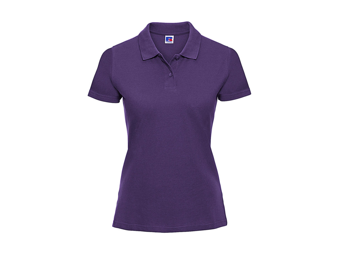 Russell Europe Ladies` Classic Cotton Polo, Purple, M bedrucken, Art.-Nr. 502003494