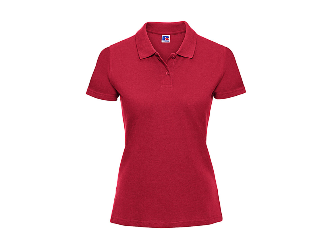 Russell Europe Ladies` Classic Cotton Polo, Classic Red, M bedrucken, Art.-Nr. 502004014