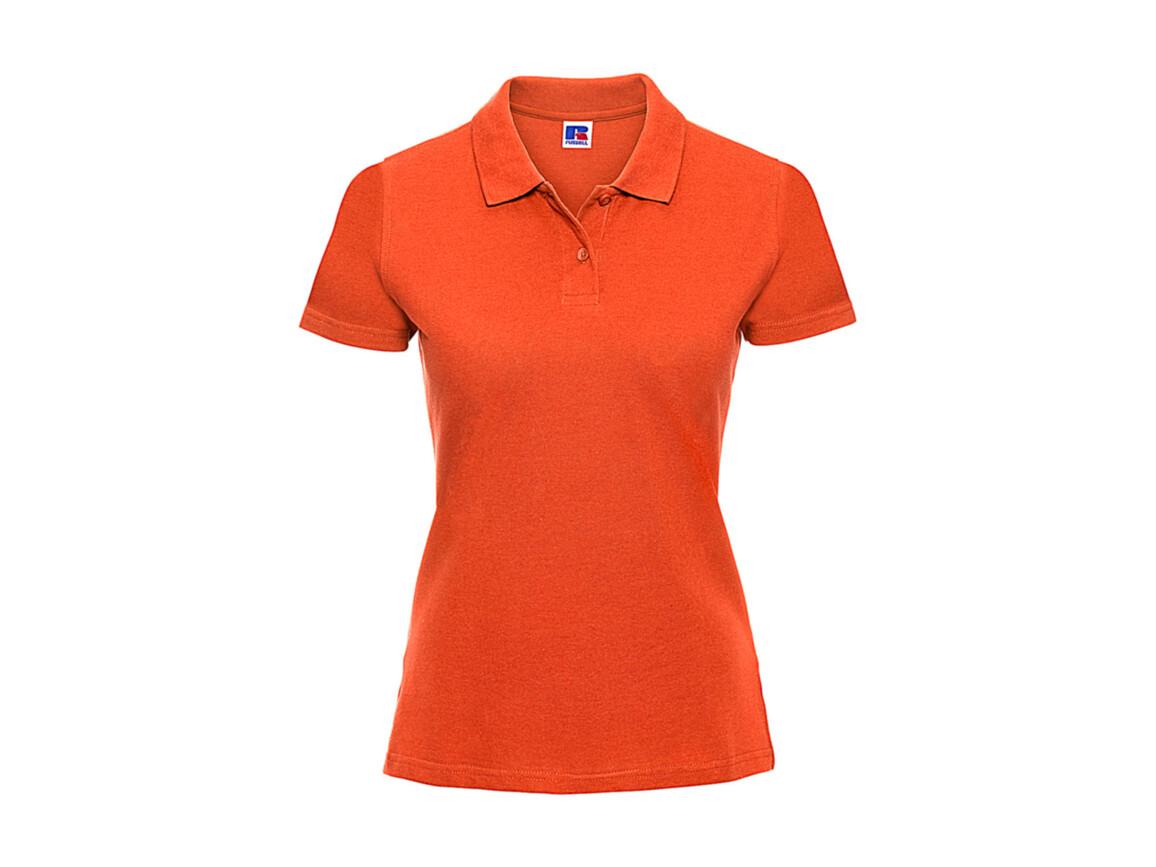 Russell Europe Ladies` Classic Cotton Polo, Orange, M bedrucken, Art.-Nr. 502004104