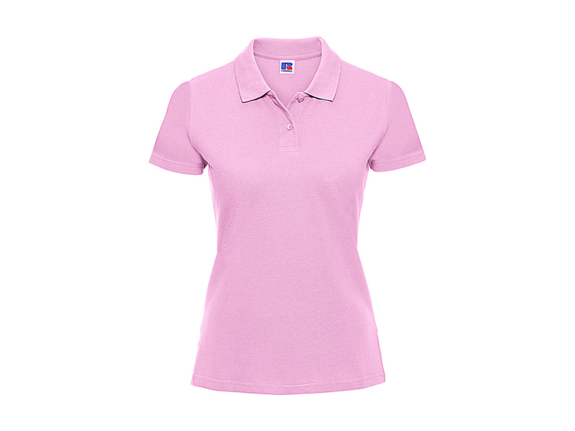 Russell Europe Ladies` Classic Cotton Polo, Candy Pink, XS bedrucken, Art.-Nr. 502004222
