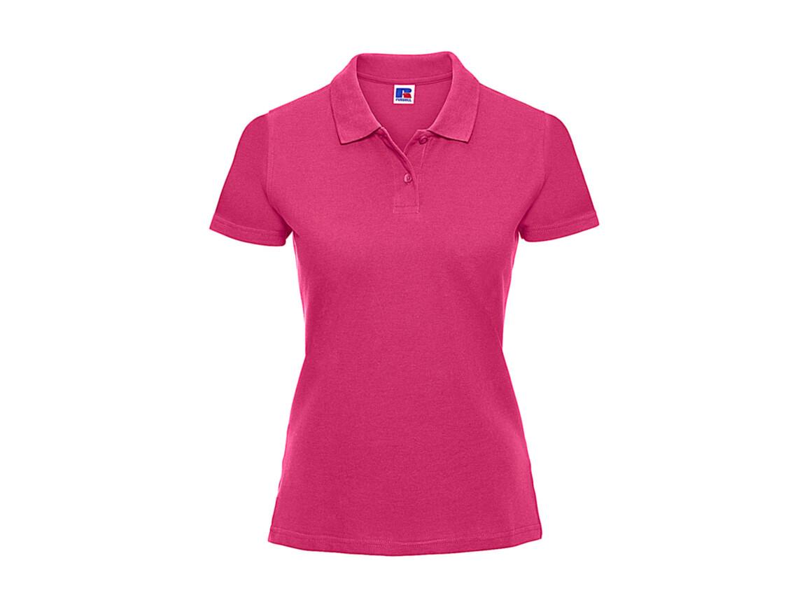 Russell Europe Ladies` Classic Cotton Polo, Fuchsia, S bedrucken, Art.-Nr. 502004393