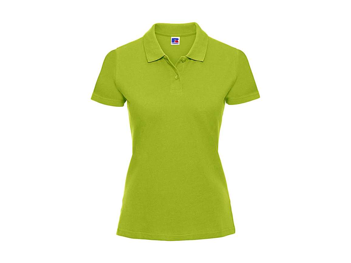 Russell Europe Ladies` Classic Cotton Polo, Lime, S bedrucken, Art.-Nr. 502005213