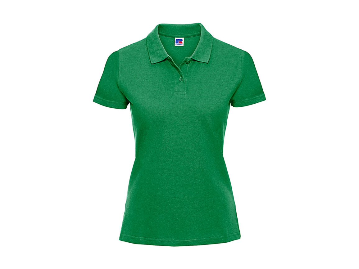 Russell Europe Ladies` Classic Cotton Polo, Apple, M bedrucken, Art.-Nr. 502005224