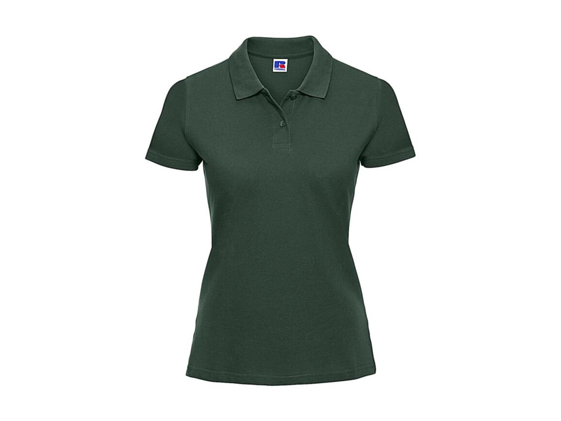 Russell Europe Ladies` Classic Cotton Polo, Bottle Green, XL bedrucken, Art.-Nr. 502005406
