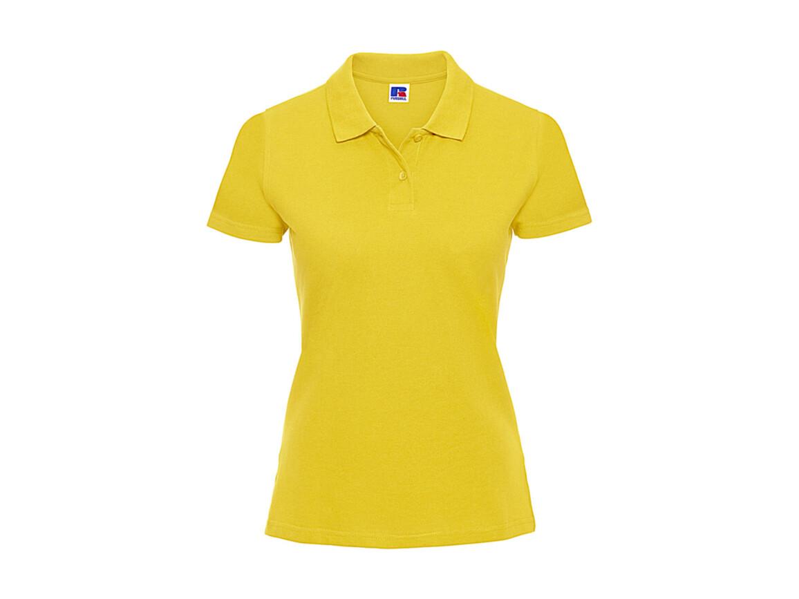 Russell Europe Ladies` Classic Cotton Polo, Yellow, 2XL bedrucken, Art.-Nr. 502006007