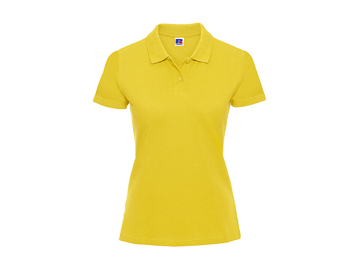 Russell Europe Ladies` Classic Cotton Polo, Yellow, S bedrucken, Art.-Nr. 502006003