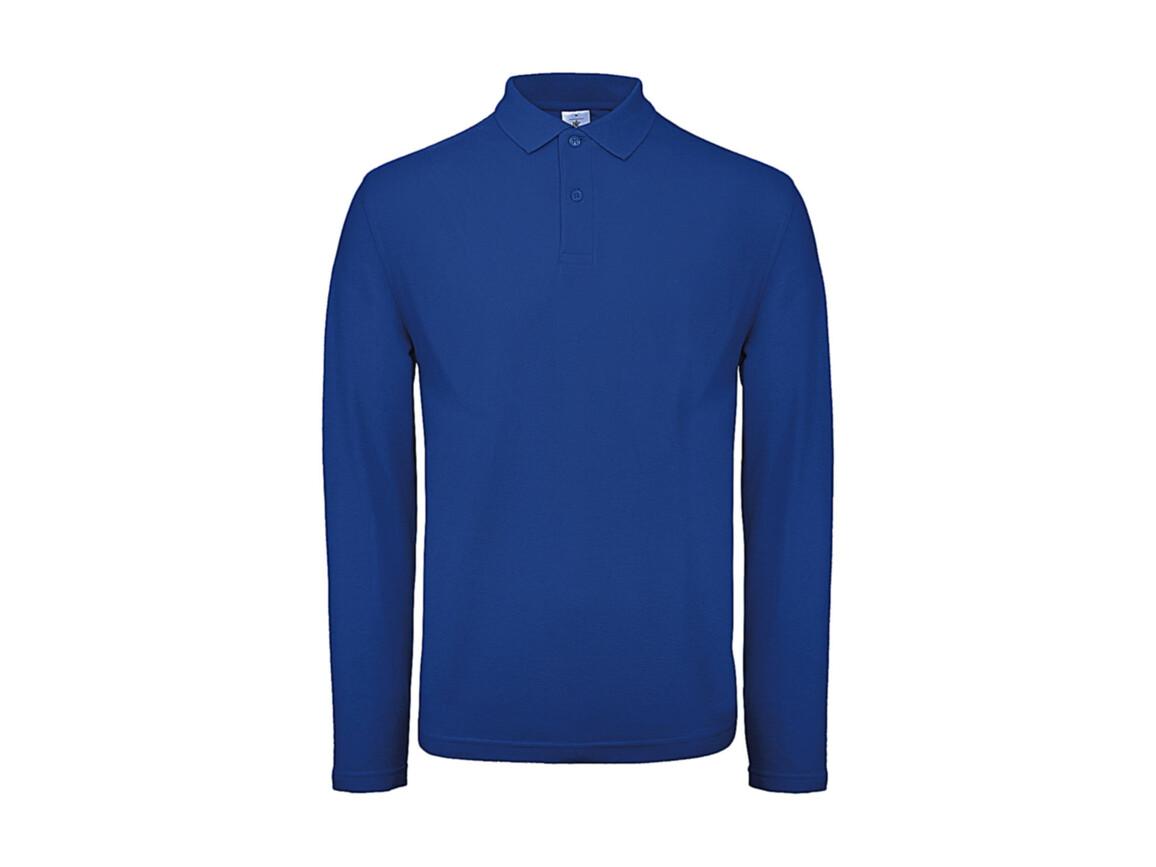 B & C ID.001 LSL Polo, Royal Blue, S bedrucken, Art.-Nr. 502423003