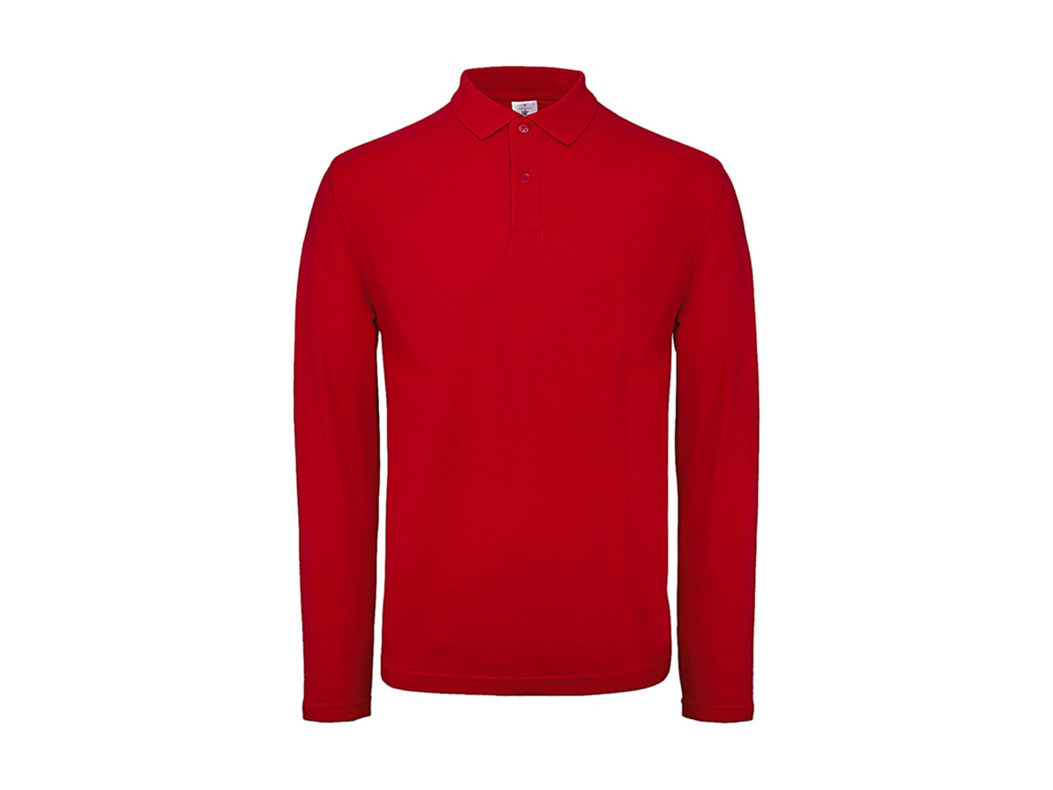B & C ID.001 LSL Polo, Red, 2XL bedrucken, Art.-Nr. 502424007