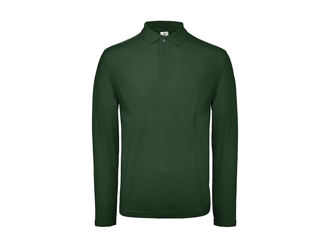 B & C ID.001 LSL Polo, Bottle Green, 4XL bedrucken, Art.-Nr. 502425409