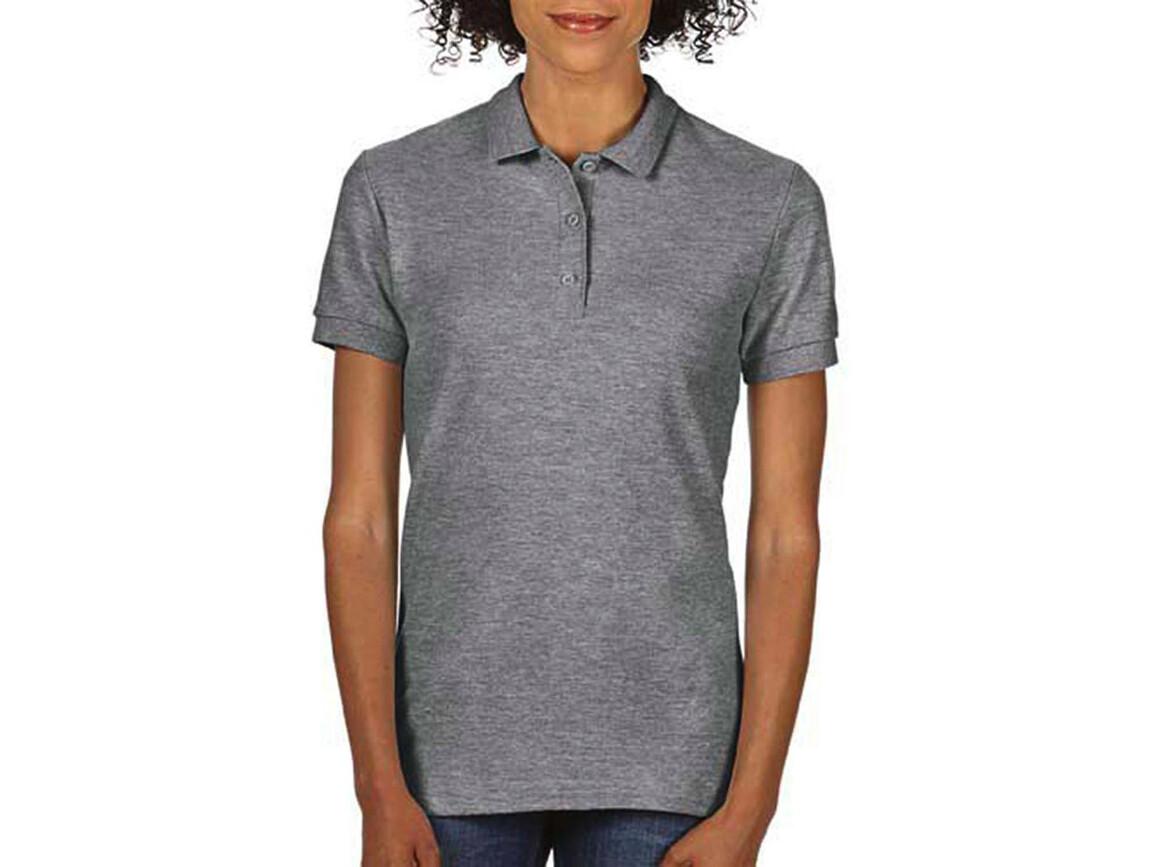 Gildan Premium Cotton Ladies` Double Piqué Polo, Graphite Heather, L bedrucken, Art.-Nr. 503091315