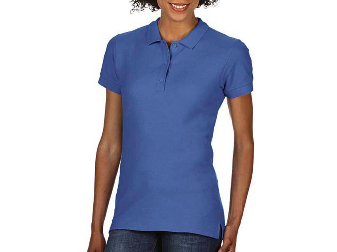 Gildan Premium Cotton Ladies` Double Piqué Polo, Flo Blue, M bedrucken, Art.-Nr. 503093254