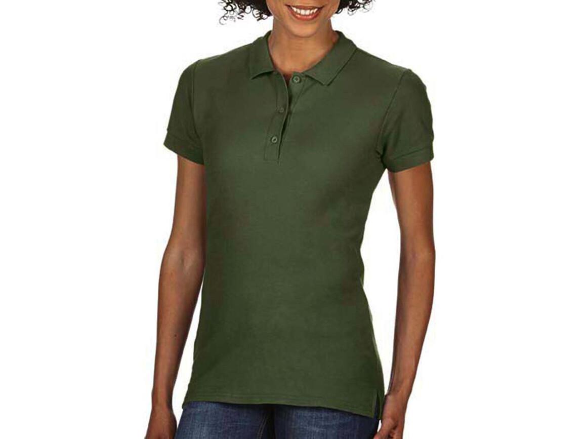 Gildan Premium Cotton Ladies` Double Piqué Polo, Military Green, S bedrucken, Art.-Nr. 503095063