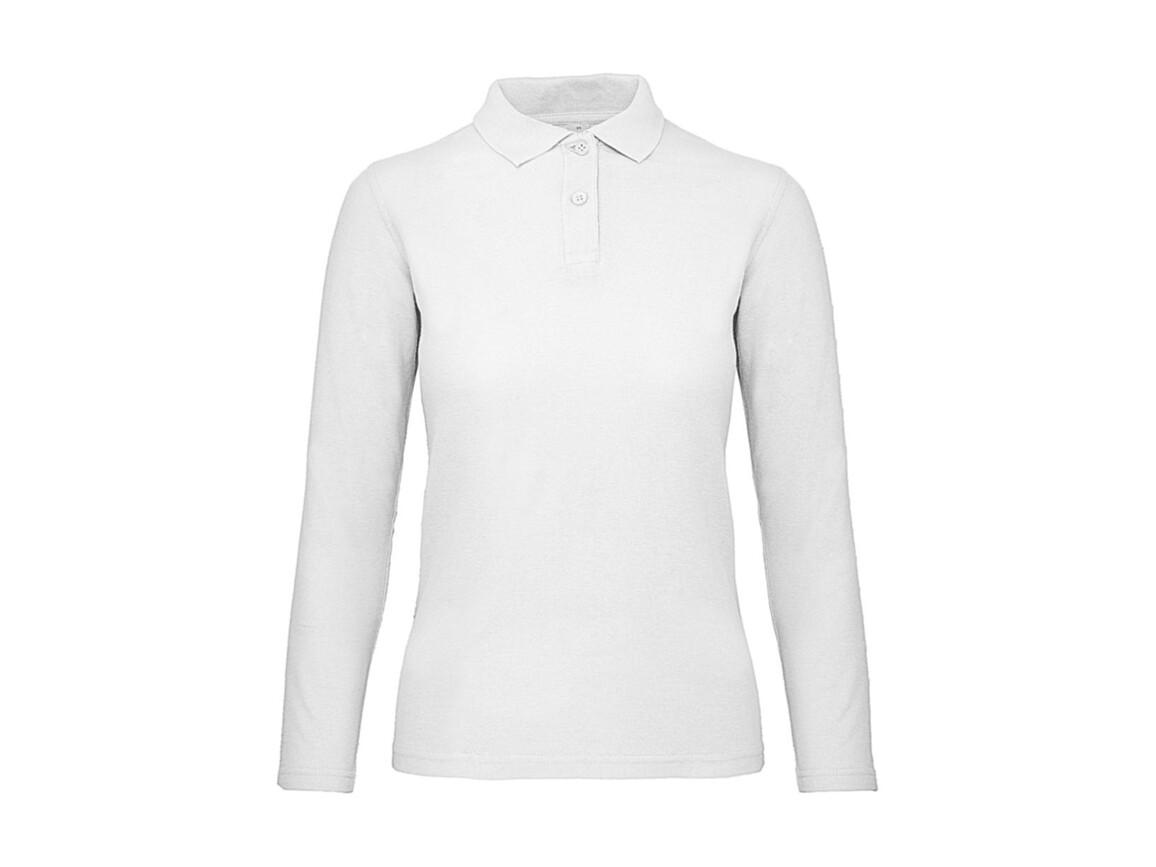 B & C ID.001 LSL /women Polo, White, M bedrucken, Art.-Nr. 503420004