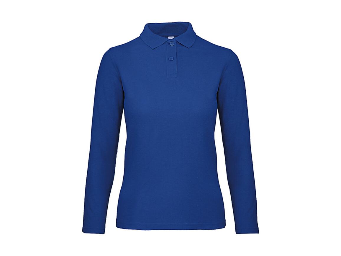 B & C ID.001 LSL /women Polo, Royal Blue, S bedrucken, Art.-Nr. 503423003