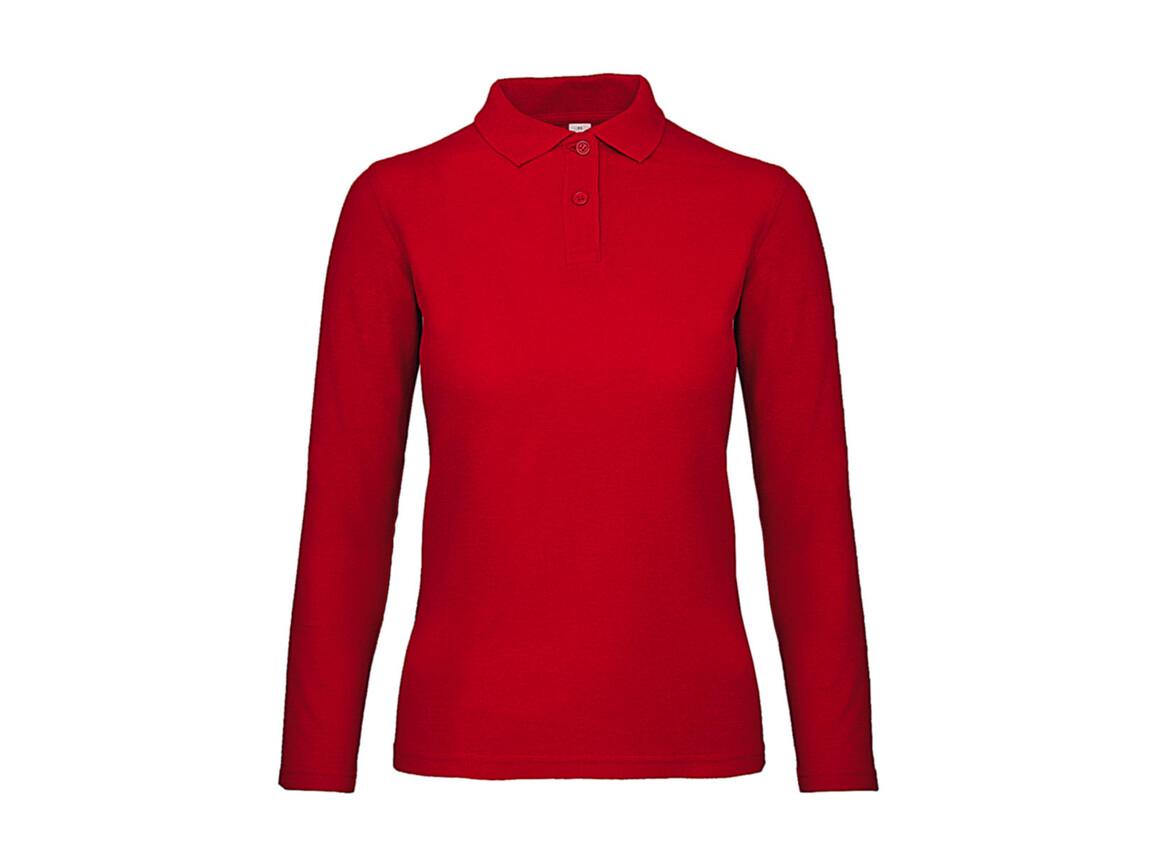 B & C ID.001 LSL /women Polo, Red, 3XL bedrucken, Art.-Nr. 503424008