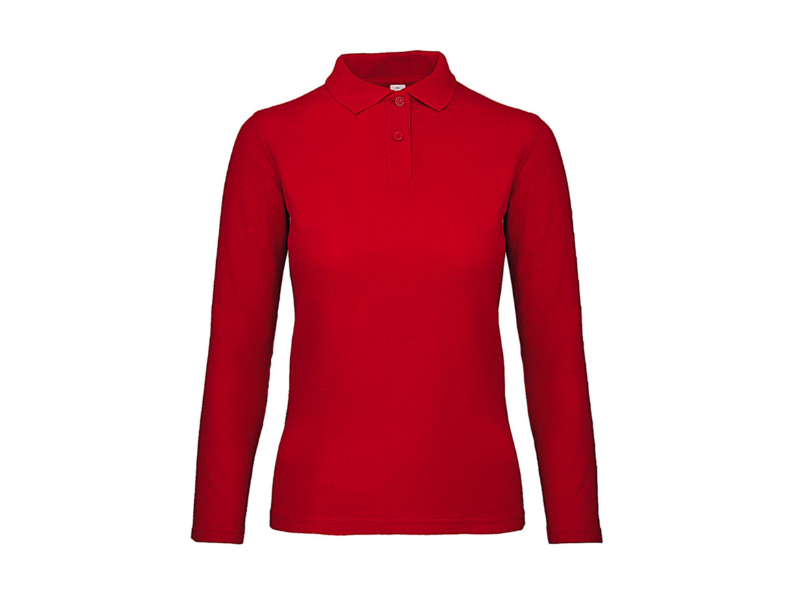 B & C ID.001 LSL /women Polo, Red, XL bedrucken, Art.-Nr. 503424006