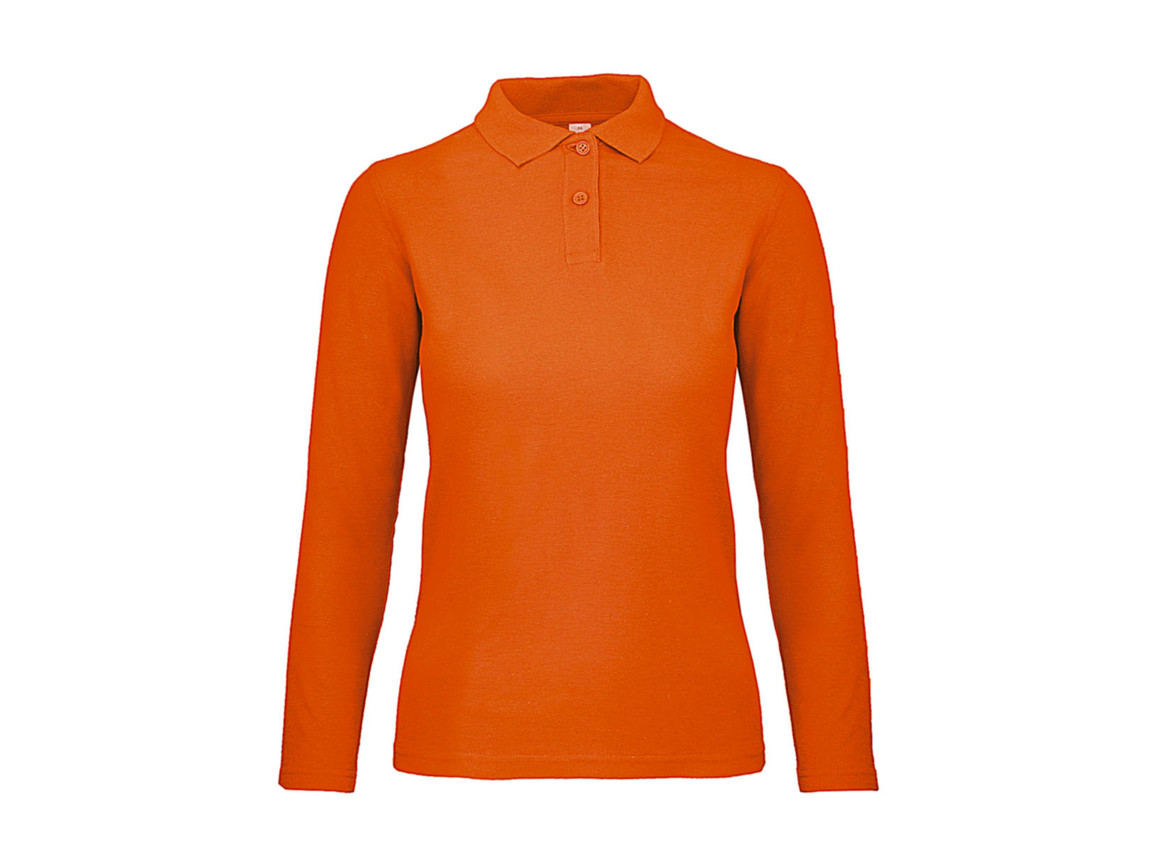 B & C ID.001 LSL /women Polo, Orange, M bedrucken, Art.-Nr. 503424104