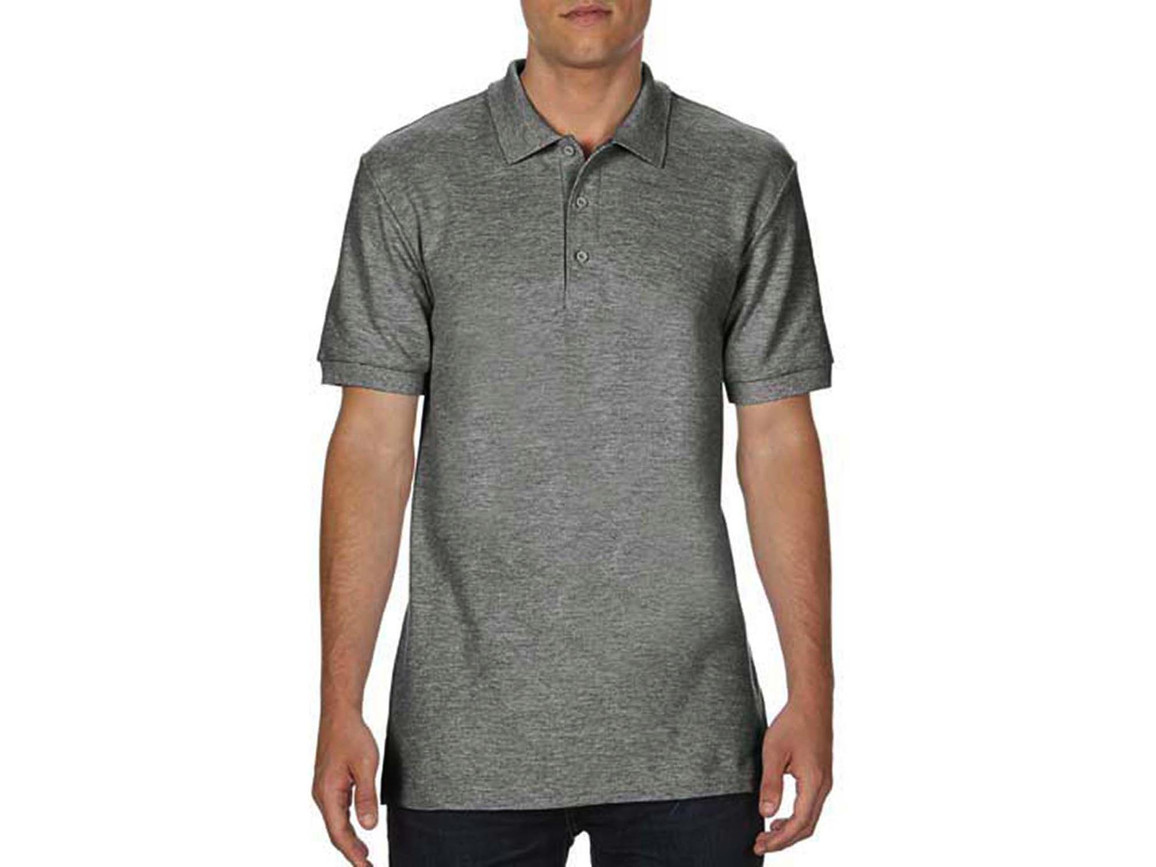 Gildan Premium Cotton Double Piqué Polo, Graphite Heather, XL bedrucken, Art.-Nr. 504091316
