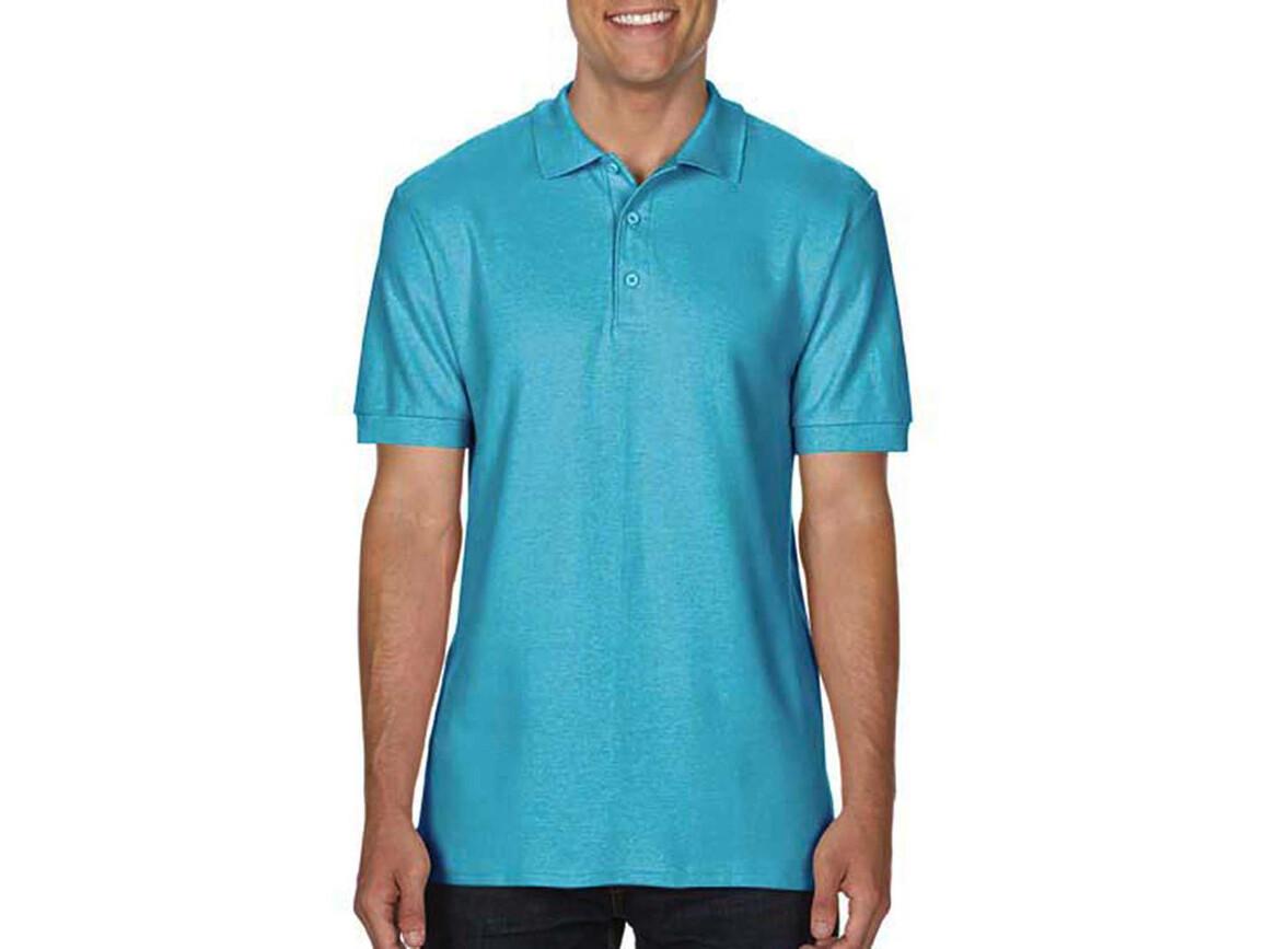 Gildan Premium Cotton Double Piqué Polo, Lagoon Blue, S bedrucken, Art.-Nr. 504093083