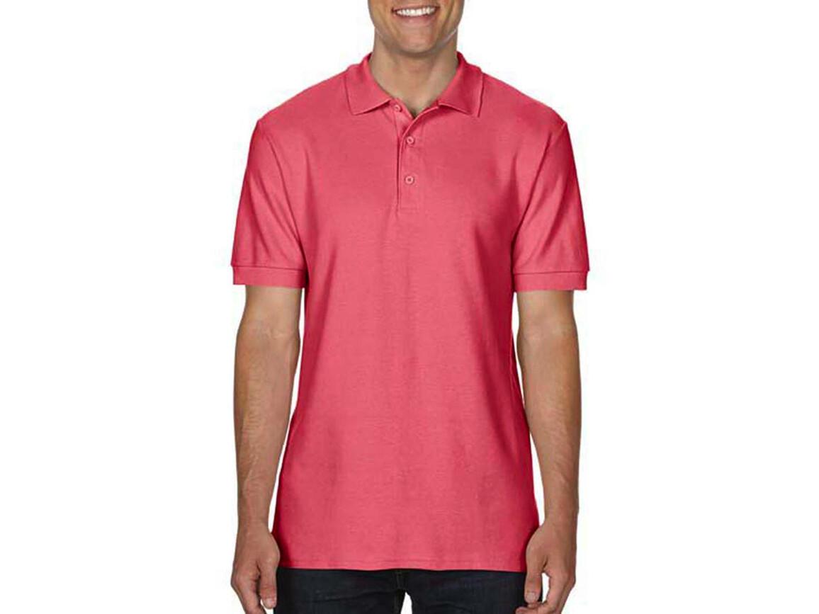Gildan Premium Cotton Double Piqué Polo, Coral Silk, S bedrucken, Art.-Nr. 504094173