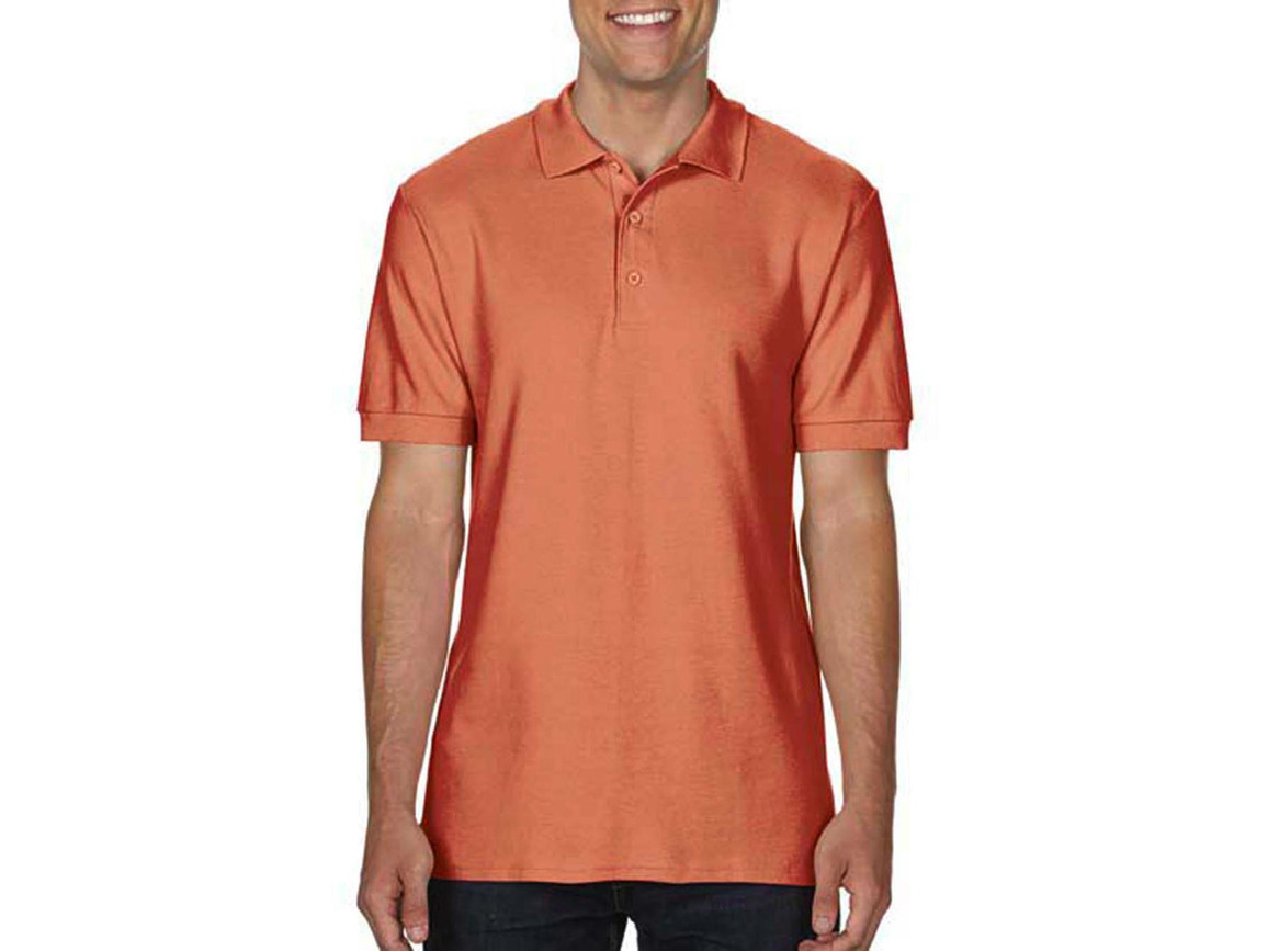 Gildan Premium Cotton Double Piqué Polo, Terracotta, S bedrucken, Art.-Nr. 504094363