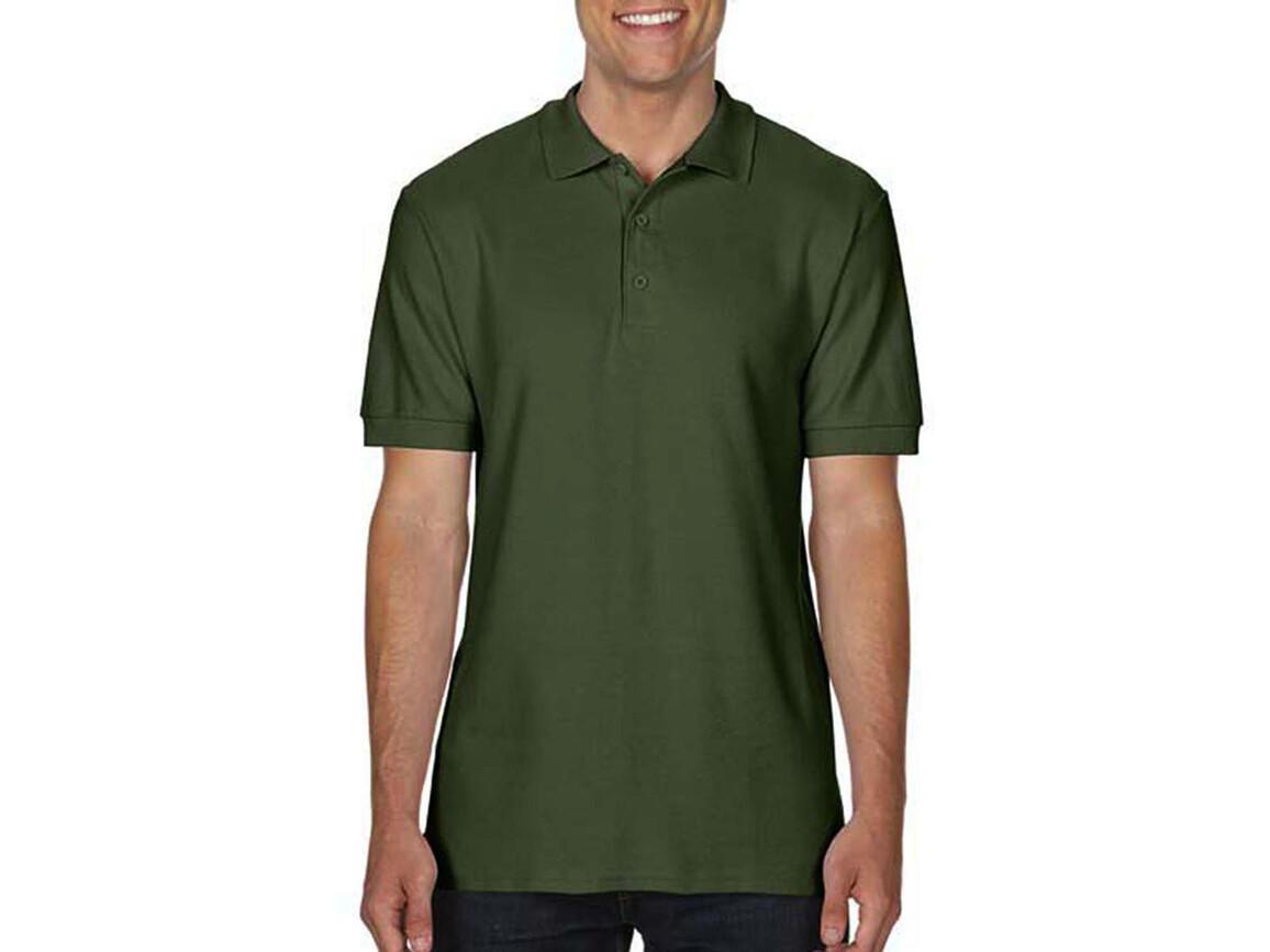 Gildan Premium Cotton Double Piqué Polo, Military Green, 2XL bedrucken, Art.-Nr. 504095067