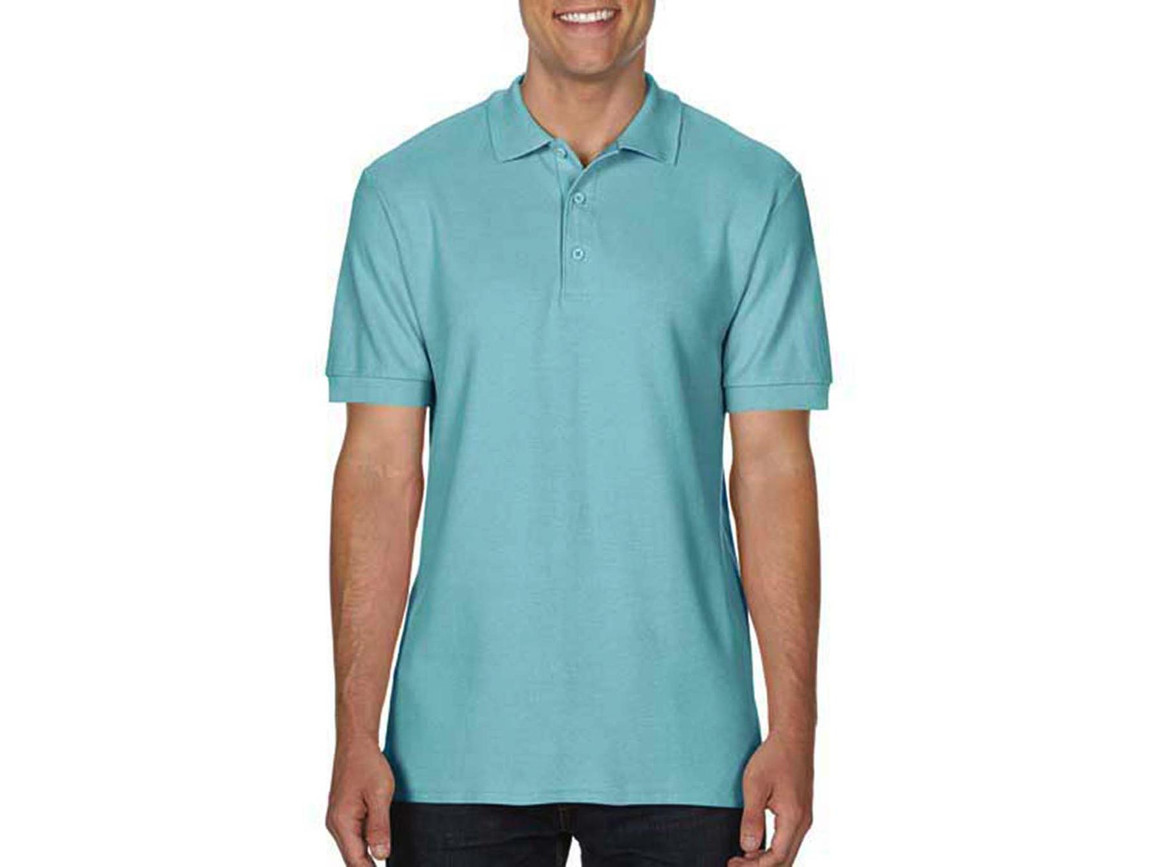 Gildan Premium Cotton Double Piqué Polo, Chalky Mint, 2XL bedrucken, Art.-Nr. 504095227