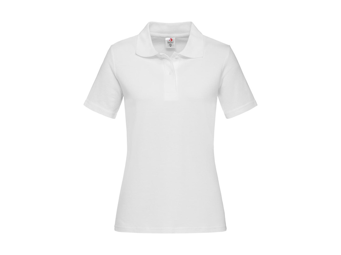 Stedman Polo Women, White, L bedrucken, Art.-Nr. 505050005