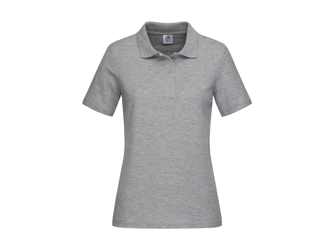 Stedman Polo Women, Grey Heather, XL bedrucken, Art.-Nr. 505051236