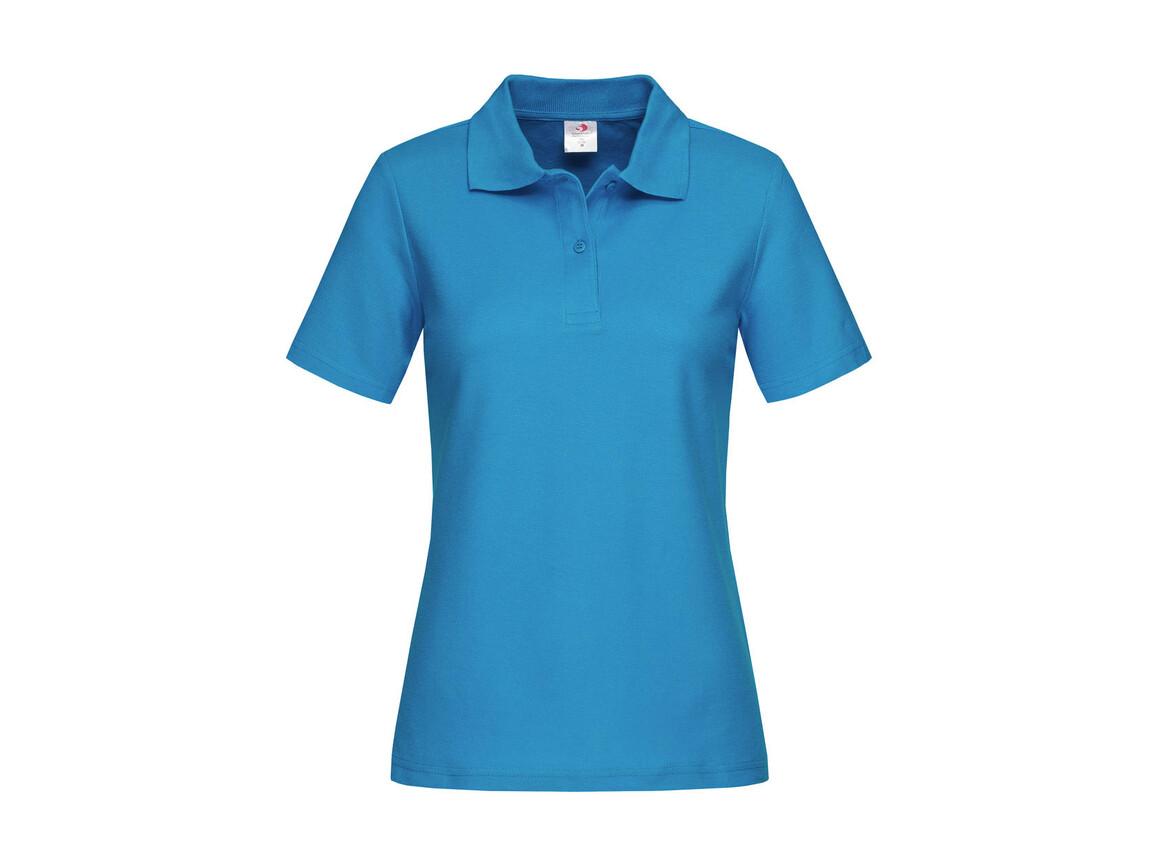 Stedman Polo Women, Ocean Blue, M bedrucken, Art.-Nr. 505053144